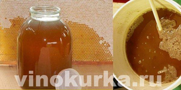 Будем делать брагу на меду с сахаром.